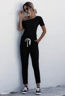 Sommer einfarbiger einteiliger Overall Pyjama