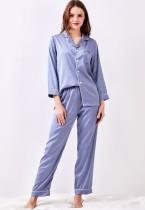 Frauen schiere zweiteilige Hosen Pyjama Set