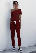 Pijama de mono de una pieza de verano de color sólido