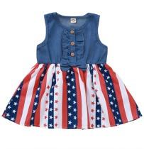 Kinder Mädchen Sommer Print A-Linie Kleid