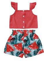 Kinder Mädchen Sommer zweiteilige Shorts Set