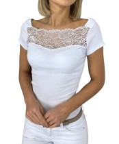 Sommer Lace Upper Basic Tight Shirt