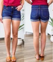 Pantalones cortos de mezclilla azul de ajuste sexy de verano