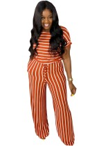 Summer Striped Print Leisure Jumpsuit
