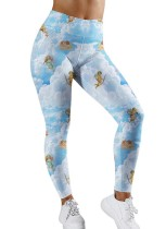 Niedliche Print High Taist Yoga Leggings