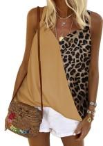 Camisa de verano con estampado de leopardo y tirantes