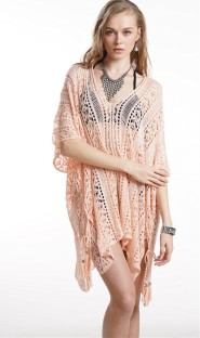 Solid Color Hollow Out Beach Cover Ups