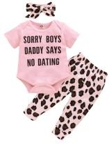 Baby Mädchen Sommer dreiteilige Hosen Set