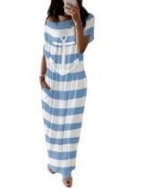 Vestido largo estampado casual de verano