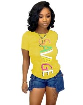 Sommer Print Round Neck Shirt