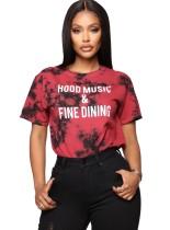 Camisa de verano con cuello redondo y efecto tie dye