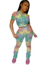 Conjunto de pantalones de dos piezas Summer Dye Tie