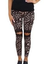 Leggings rasgados de leopardo sexy de verano