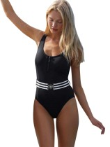 Sexy schwarzer Badeanzug