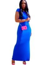 Летнее однотонное длинное платье макси