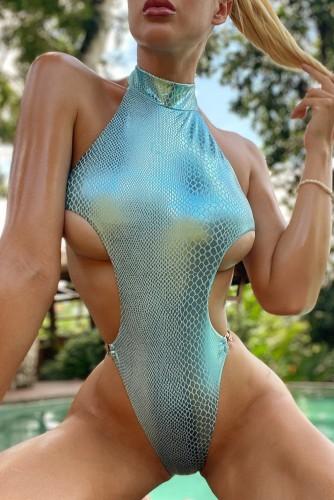 Costumi da bagno sexy monopezzo con catene alte tagliate