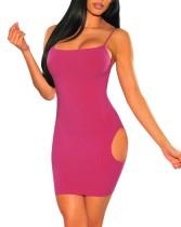 Sexy ausgeschnittene Träger Mini Party Kleid