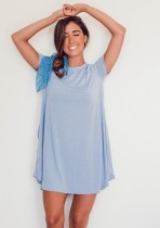 Summer Sheer Loose Shirt Kleid