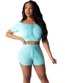 Summer Sheer Two Piece Shorts Set