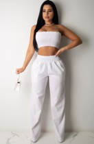 Conjunto de calça e blusa pura de verão