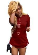 Sommer Print O-Neck Shirt Kleid