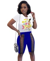 Summer Print Shirt und Schnürshorts