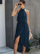 Летнее A-Line Sheer Нерегулярное длинное платье