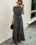 Summer O-Neck Sheer Long Maxi Dress
