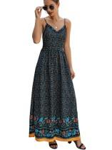 Летнее платье с цветочными ремешками