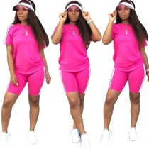 Summer Casual Two Piece Shorts Set