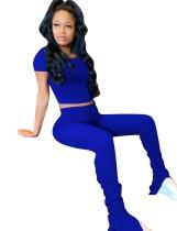 Yaz Düz Renk İki Parçalı Pantolon Seti