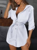 Elegante blousejurk met riem