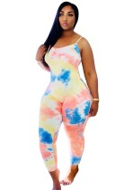 Sommer Sexy Tie Dye Straps Bodycon Overall