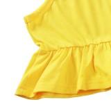 Kids Girl Summer Print Conjunto de Shorts de Duas Peças