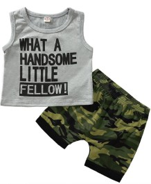 Kids Boy Summer zweiteiliges Print Short Set