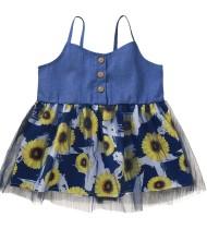 Vestido floral de tirantes de verano para niña