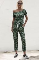 Conjunto de pijama de dos piezas con estampado de verano