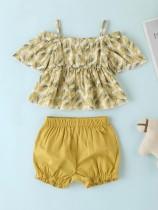 Kids Girl Summer Straps Top und Shorts Set