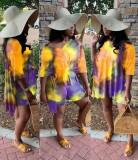 Yazlık Batik İki Parça Eşleşen Gömlek ve Şort Takım