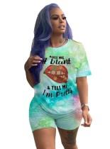 Summer Tie Dye Zweiteiliges Matching Shirt und Short Set