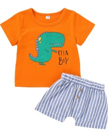 Kids Boy Summer Print Zweiteiliges Shorts-Set