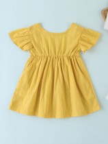 Vestido skater amarillo verano niña niña