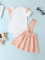 Conjunto de falda y mamelucos de verano para niña
