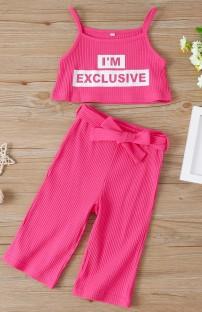 Ensemble de pantalons assortis d'été pour enfants fille