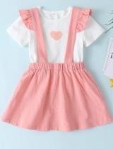 Conjunto de falda de dos piezas de verano para niña