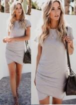 Summer Sheer Wrapped Minikleid