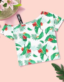 Kids Girl Summer Print Shirt