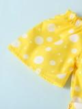 Mamelucos de tirantes amarillos de lunares de verano para niñas