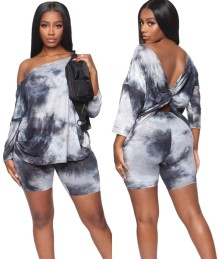 Summer Tie Dye Two Piece Shorts Set