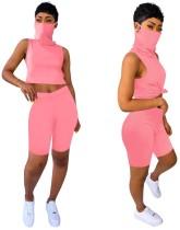 Summer Sheer Two Piece Sleeveless Shorts Set